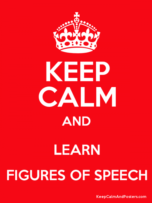 keep calm and learn figures of speech